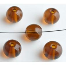 Glaskralen bruin 10 mm