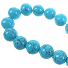 Glaskralen blauw 12 mm