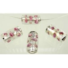 Glaskralen cilinder roze