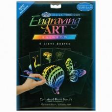 "Engraving art - blank boards 5"" x 7"" - rainbow"