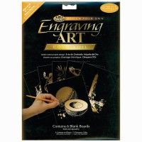 """Engraving art - blank boards 8"""" x 10"""" - gold"""