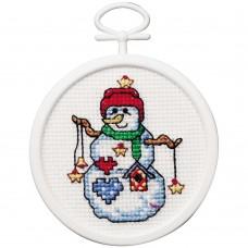 Borduur setje - Starry Snowman