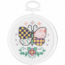 Borduur setje - Patchwork butterfly