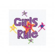 Borduur setje - Girls rule