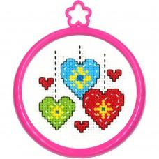 Borduur setje - Hearts
