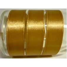 Satijnlint 15 mm goudbruin