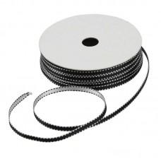 Satijnlint 4 mm zwart-wit