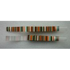 Decoratielint groen, wit, bruin en oranje gestreept