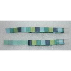 Decoratielint groen en blauw geblokt