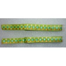 Decoratielint groen, geel en oranje geblokt