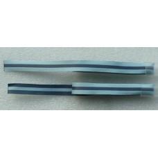 Decoratielint lichtblauw met donkerblauwe streep