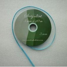 Satijnlint 3 mm turquoise