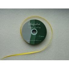 Satijnlint 3 mm geel