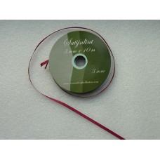 Satijnlint 3 mm donkerroze