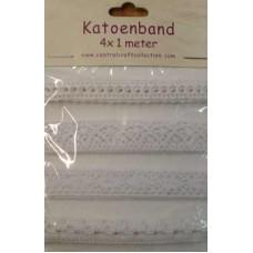 Katoenband wit 2