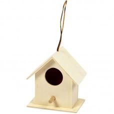 Houten vogelhuisje vierkant