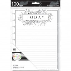 Block paper pad - Black and White floral - classic