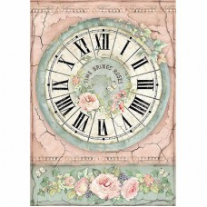 Rijstpapier A4 Clock