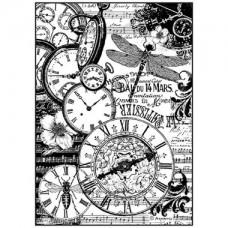 Rijstpapier A4 Clocks vintage