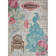 Rijstpapier A4 Lady Versailles