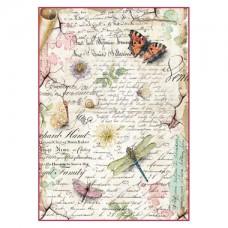 Rijstpapier A4 Dragonflies & Butterflies