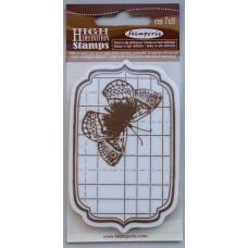Clingstamp Tag with butterfly