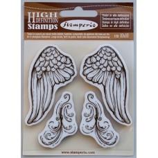Clingstamp Angel wings
