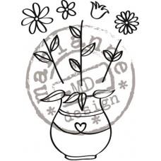 Clearstamp Bloemen voor filigraan