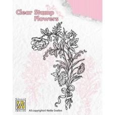 Clearstamp Boeket wilde bloemen 1