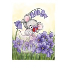 Clearstamp Mouse on Bluebell
