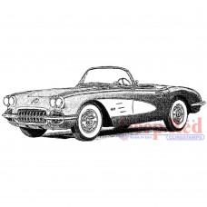 Clingstamp Classic Corvette