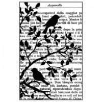 Clingstamp Birds in Tree