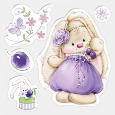 Clearstamp Bunny and Plums
