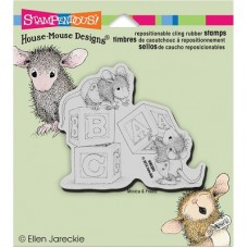 Clingstamp house mouse - Baby blocks