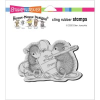 Clingstamp house mouse - Mouse tag