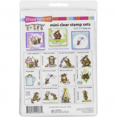 Clearstamp set mini house mouse - Spring