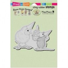 Clingstamp house mouse - Birthday chick