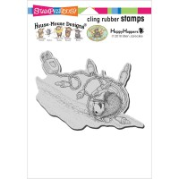Clingstamp house mouse - Tangle tumble