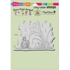 Clingstamp house mouse - Crocus droplet