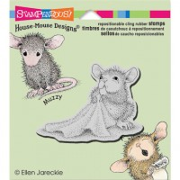 Clingstamp house mouse - Baby blanket