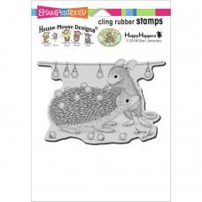Clingstamp house mouse - Holiday hedgehog
