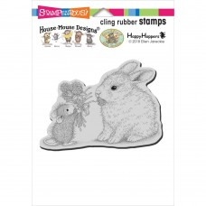 Clingstamp house mouse - Clover bouquet