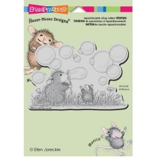 Clingstamp house mouse - Blowing bubbles