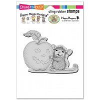Clingstamp house mouse - Apple Smile
