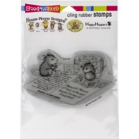 Clingstamp house mouse - Postcard Mice