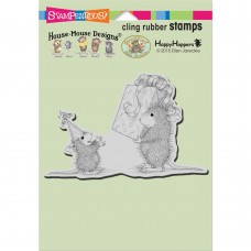 Clingstamp house mouse - Birthday gift