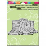 Clingstamp Puddle boots