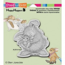 Clingstamp happy hoppers - Bunny luv