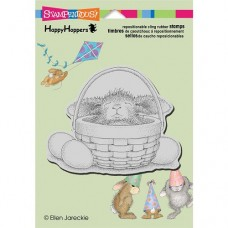 Clingstamp happy hoppers - Bunny basket