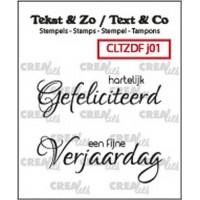 Clearstamp Tekst & Zo Jarig 01